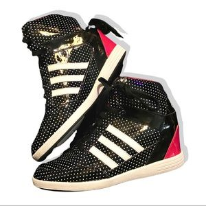 Polka Dot Wedge Adidas Sneakers